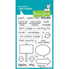 Lawn Fawn Clear Stamps 4 inch X6 inch Open Me