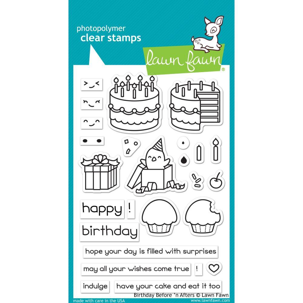 Lawn Fawn Clear Stamps 4 inch X6 inch Birthday Before n Afters