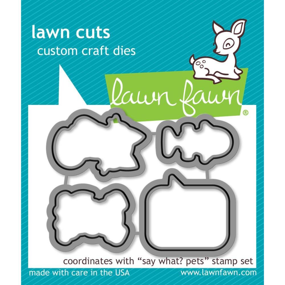 Lawn Fawn - Lawn Cuts Custom Craft Die Say What? Pets