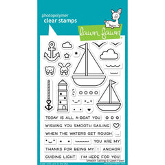 Lawn Fawn Clear Stamps 4 inch X6 inch Smooth Sailing