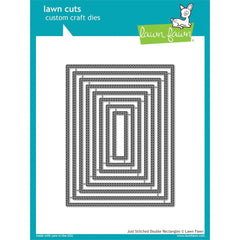 Lawn Fawn - Lawn Cuts Custom Craft Die Just Stitching Double Rectangles