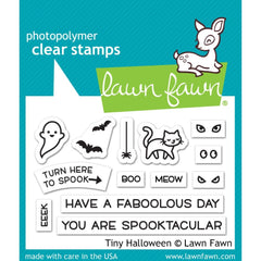 Lawn Fawn - Clear Stamps 3 inch X2 inch - Tiny Halloween