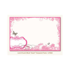 My Minds Eye - Lost and Found 2 Collection - Blush - Transparent Frame - Sweet