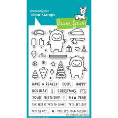 Lawn Fawn - Clear Stamps 4 inch X6 inch - Yeti Or Not
