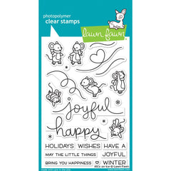 Lawn Fawn - Clear Stamps 4 inch X6 inch - Mice On Ice
