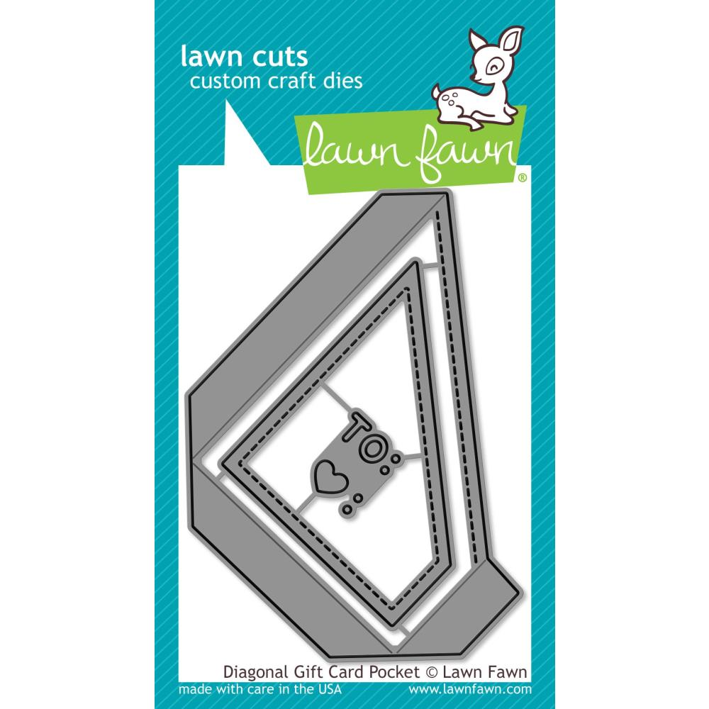 Lawn Cuts Custom Craft Die - Diagonal Gift Card Pocket