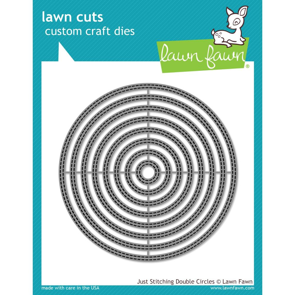 Lawn Cuts Custom Craft Die - Just Stitching Double Circles