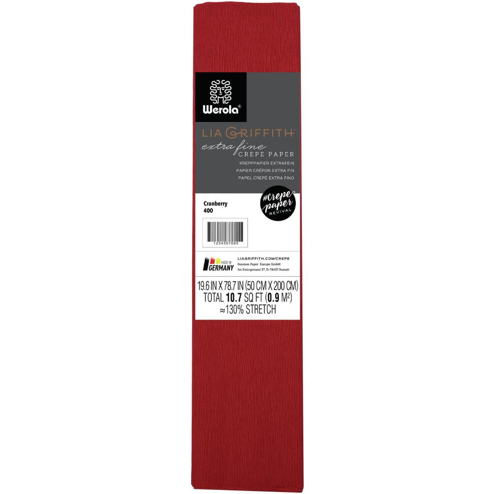 Lia Griffith - Extra Fine Crepe Paper 19.6 inch X78.7 inch Cranberry