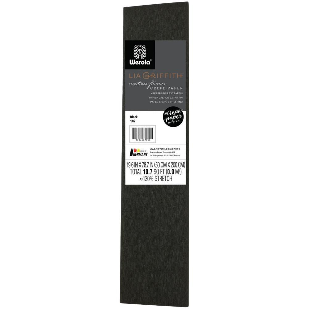 Lia Griffith - Extra Fine Crepe Paper 19.6 inch X78.7 inch Black