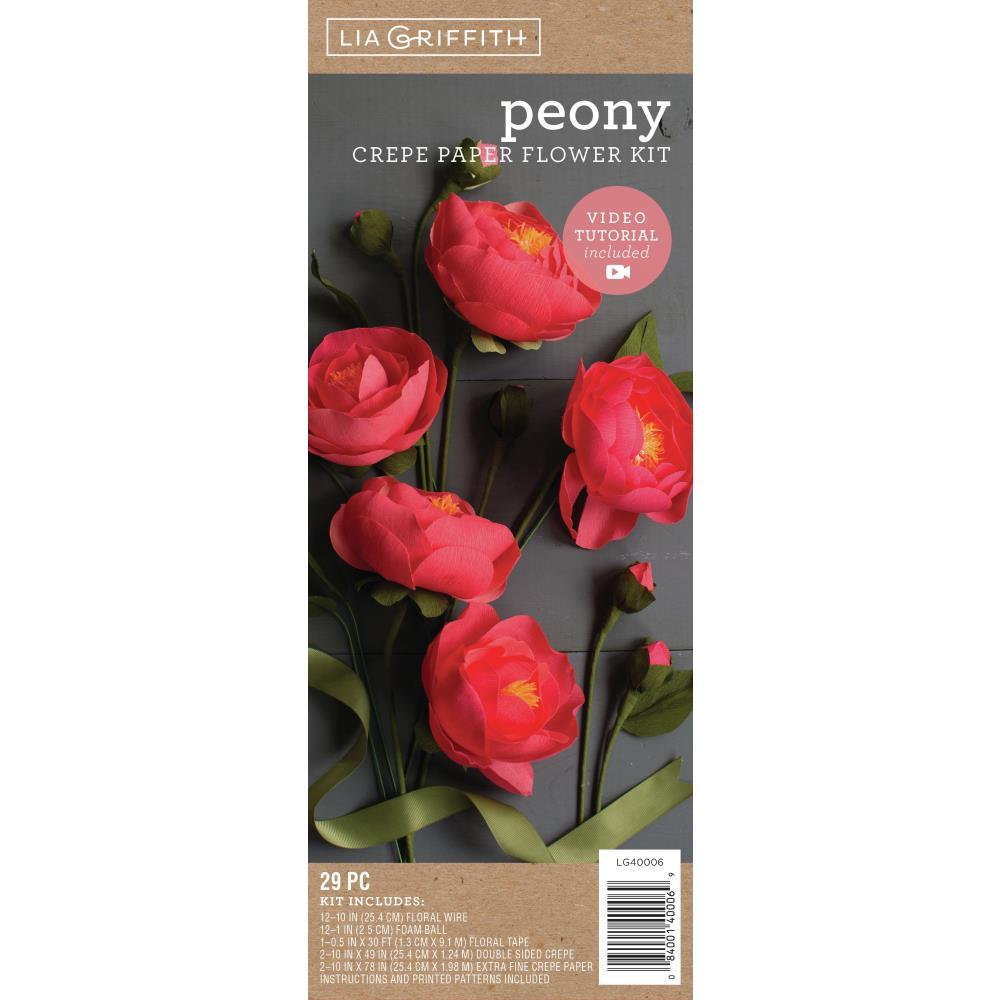 Lia Griffith Crepe Paper Flower Kit Peonies
