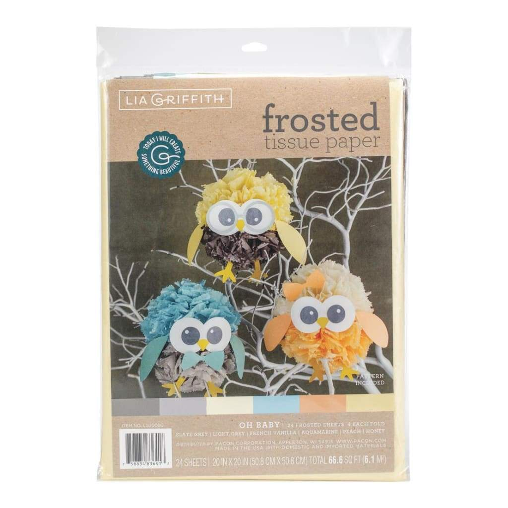 Lia Griffith Frosted Tissue Paper 24 Pack Oh Baby