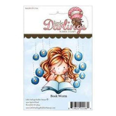 Little Darlings Unmounted Rubber Stamp 3.22In. X3.25In.  Lisbeth Book Worm