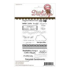Little Darlings Unmounted Rubber Stamp 4In.X6in. Fairytale Sentiments