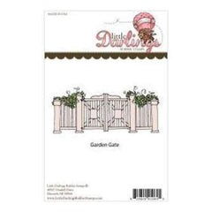 Little Darlings Unmounted Rubber Stamp 5.37In. X2.377In.  Garden Gate