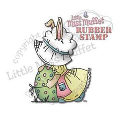 Little Miss Muffet Cling Stamp 3.25In. X2.5In. Fancy Sunbonnet Easter