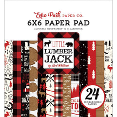 Echo Park Double-Sided Paper Pad 6 inchX6 inch 24 pack Little Lumberjack, 12 Designs/2 Each