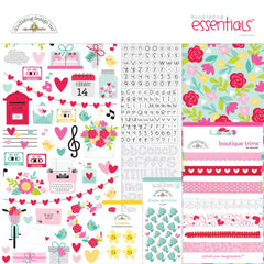 Doodlebug Essentials Page Kit 12in x 12in - Love Notes