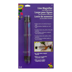 LoRan Line Magnifier with Sliding Markers .875 inch X6.5 inch