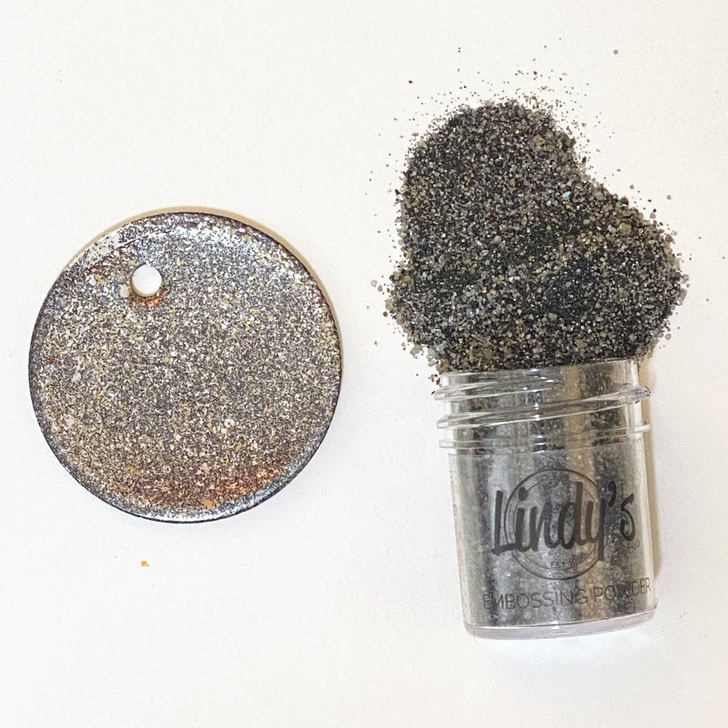 Lindys Stamp Gang Chunky Embossing Powder .5oz - Chip Off The Old Black