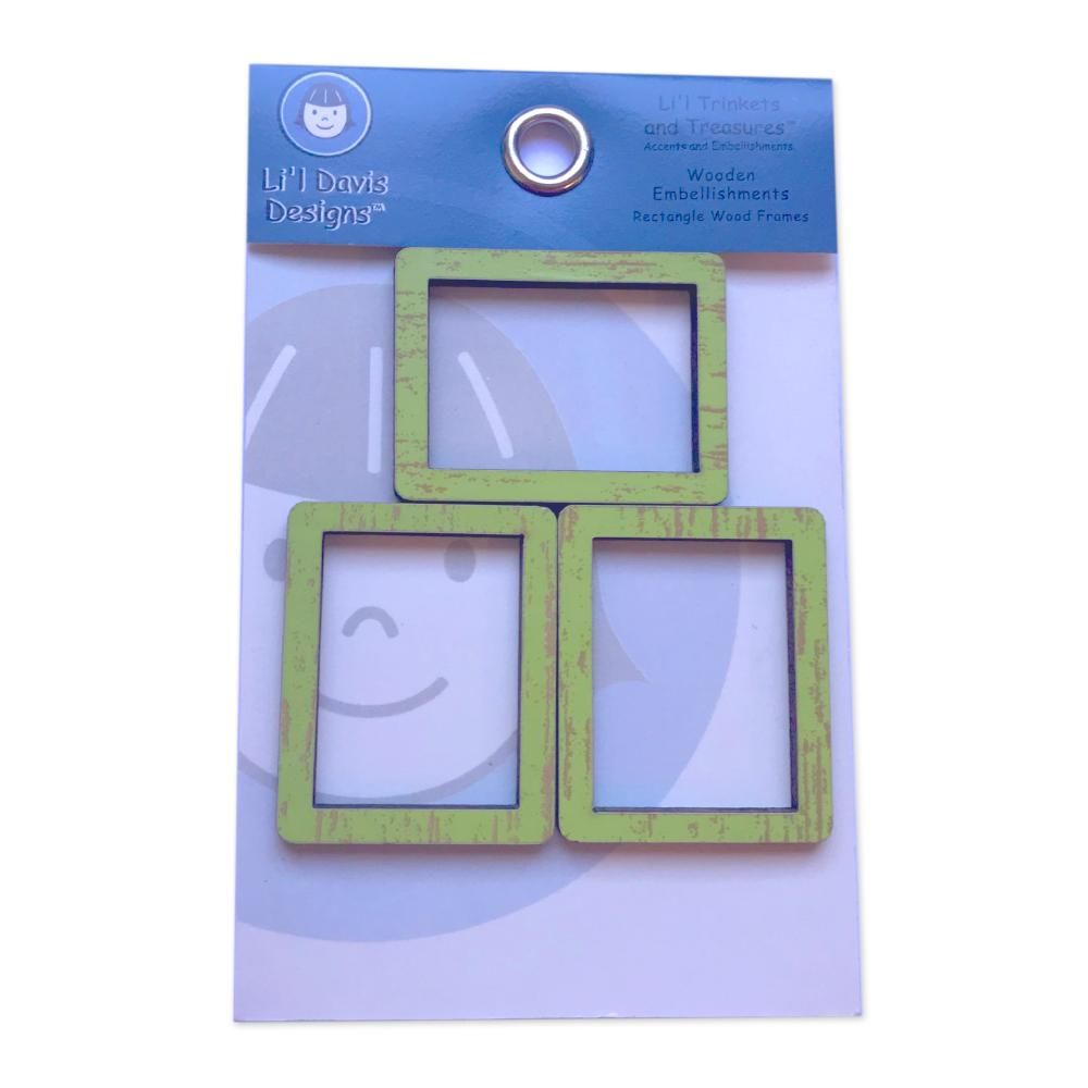 Lil Davis Designs - Green Chipboard Frames 3pack