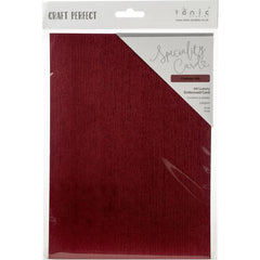 Tonic Studios - Craft Perfect - Luxury Embossed Cardstock A4 5 pack - Crimson Silk