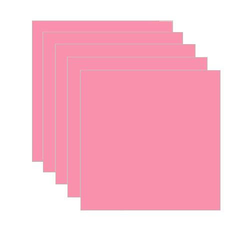 Universal Crafts Adhesive Vinyl - Matte Pink Single 12 x 12 inch Sheet