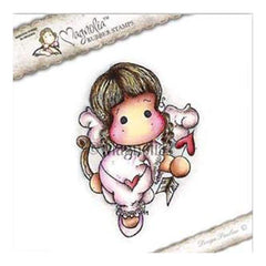 Magnolia - A Touch Of Love Cling Stamp 5.5 Inch X3.75 Inch  Package Cupid Angel Tilda