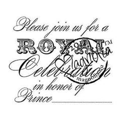 Magnolia-Cling Rubber Stamp -  Please Join Prince