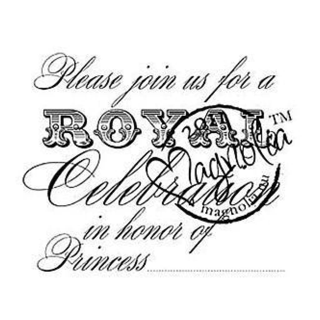 Magnolia-Cling Rubber Stamp  -  Please Join Princess
