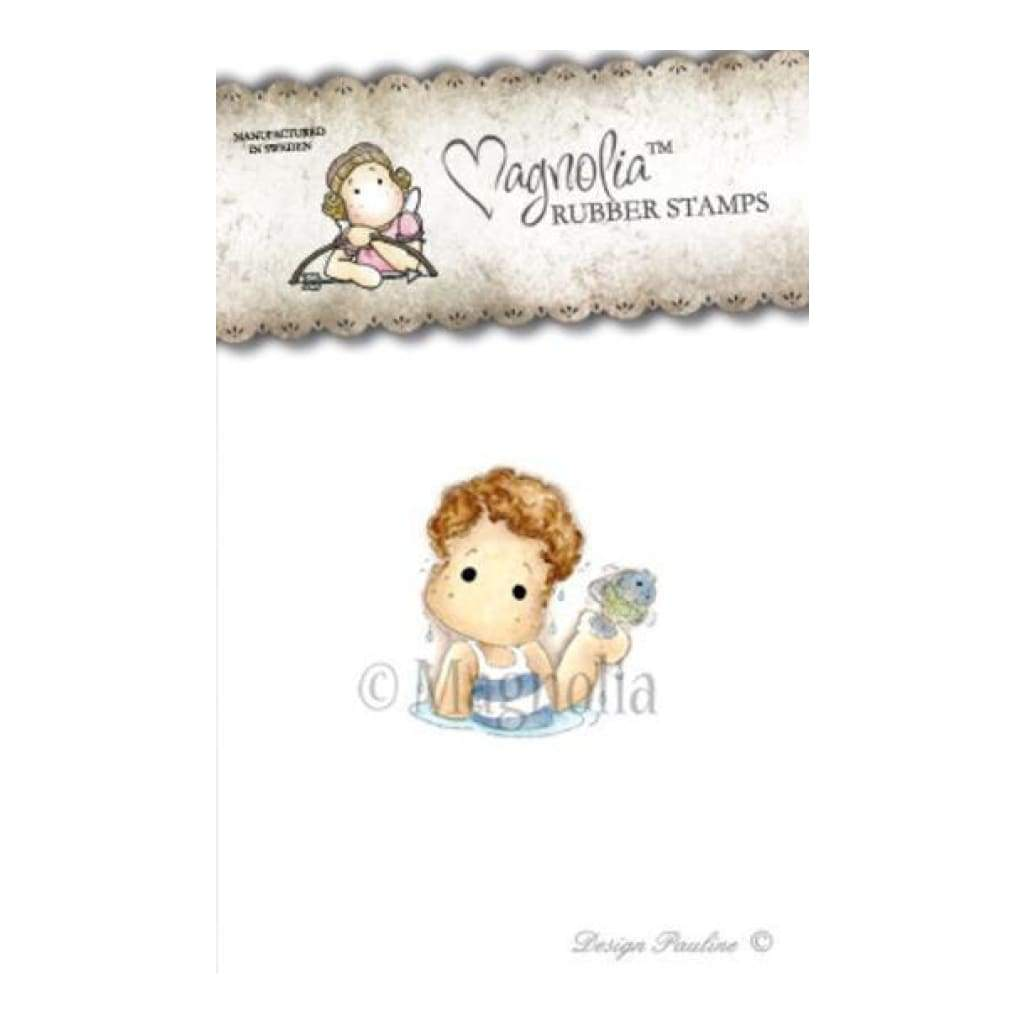 Magnolia Cling Stamps - Sea Breeze - Edwin Catching Fish *