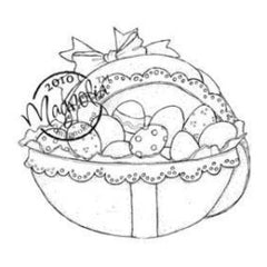 Magnolia - Hoppy Easter Cling Stamp 3.75 Hoppy Easter Cling Stamp 3.75X5.5 Package Easter Egg W/Eggs