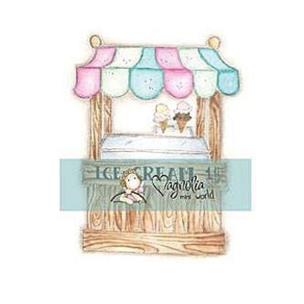 Magnolia - Mini Sea Breeze Stamp 2.75X5.75 Package Time For Ice Cream