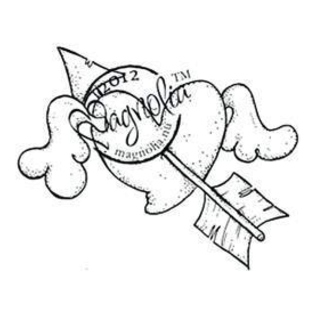 Magnolia - With Love Cling Stamp 6X2.75 Package Flying Heart