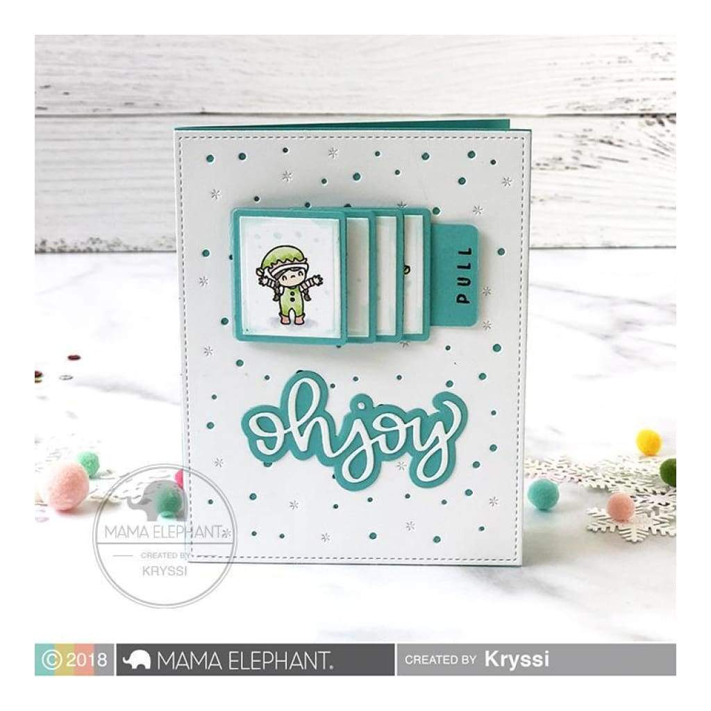 Mama Elephant - Oh Joy Halo Script - Creative Cuts Dies