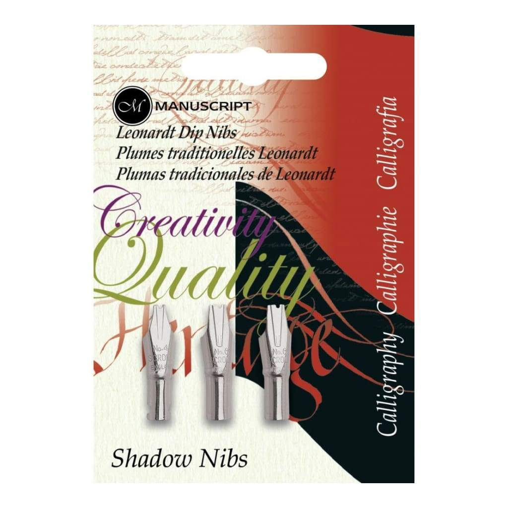 Manuscript Calligraphy Pen Nibs - Carded 3/ pack Shadow Nibs