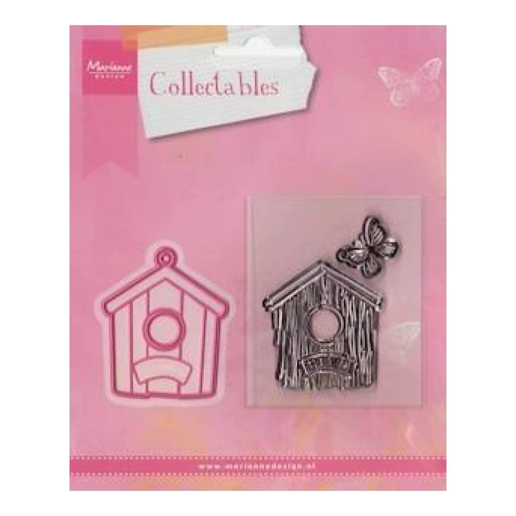 Marianne Design Collectables Stamp & Die Set - Birdhouse / Home *