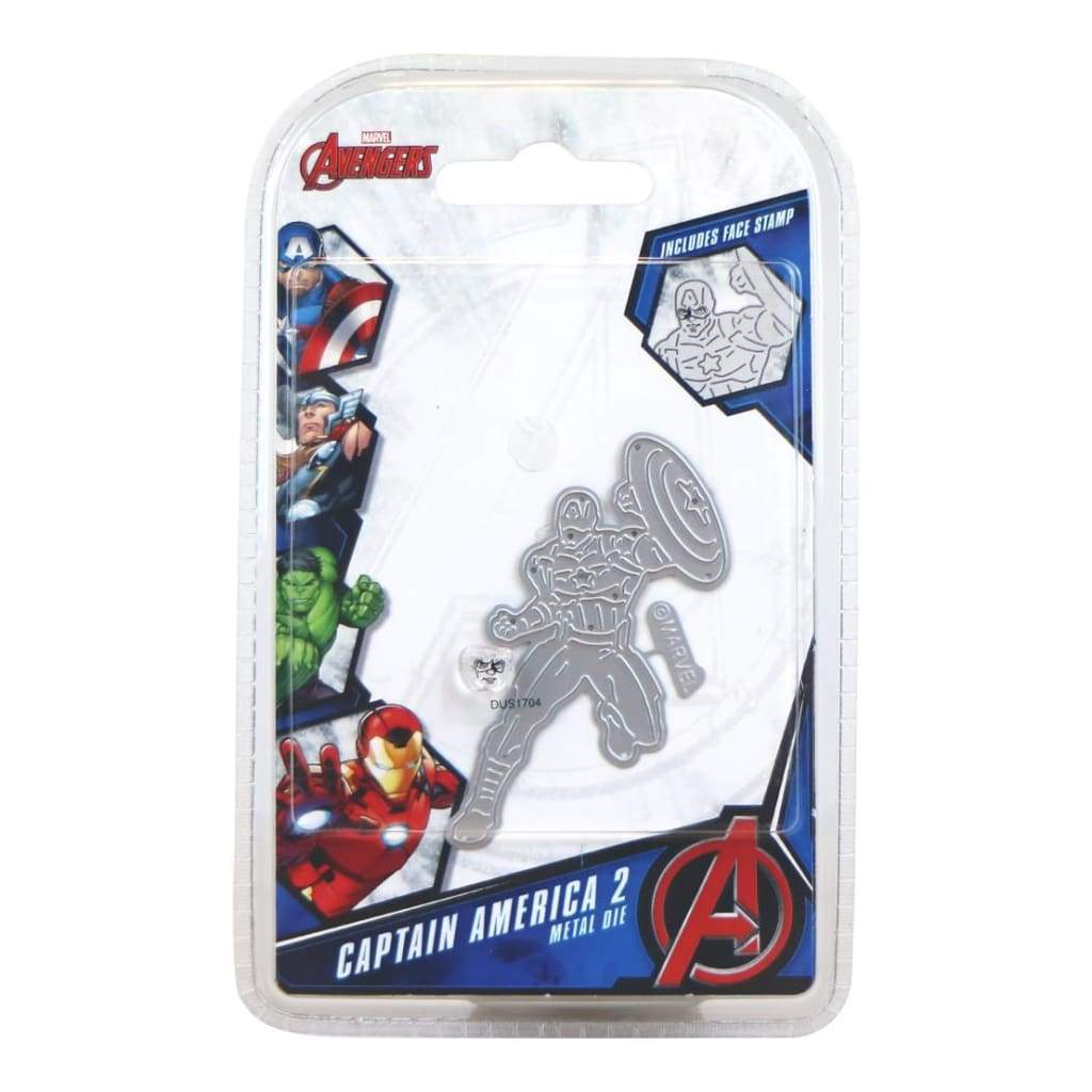 Marvel Die And Face Stamp Set Avengers Captain America 2