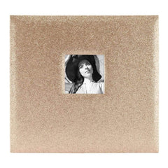 MBI Expressions Post Bound Album with Window 12 inch x12 inch Glitter Golden