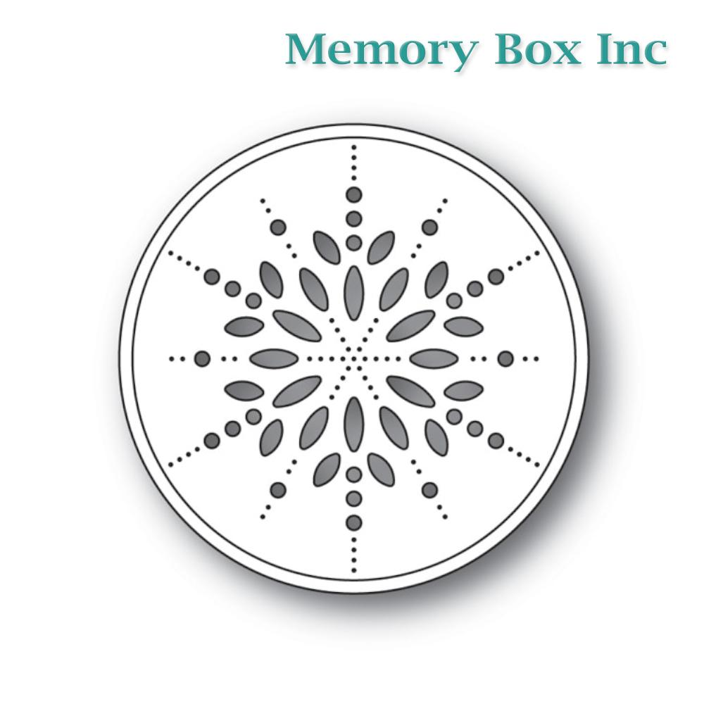 Memory Box - Pinpoint Snowflake Circle craft die