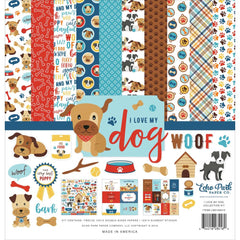 Echo Park - Collection Kit 12in.X12in. - I Love My Dog