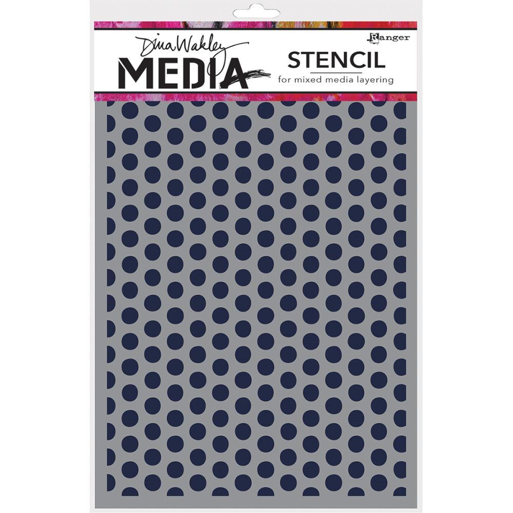 Dina Wakley Media Stencils 9 inch X6 inch Spaced Dots