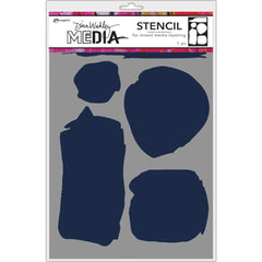 Dina Wakley - Media Stencils 9 inch X6 inch - Uneven Shapes