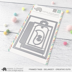 Mama Elephant - Creative Cuts Dies - Framed Tags, Delancey