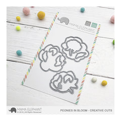Mama Elephant - Creative Cuts Dies - Peonies in Bloom