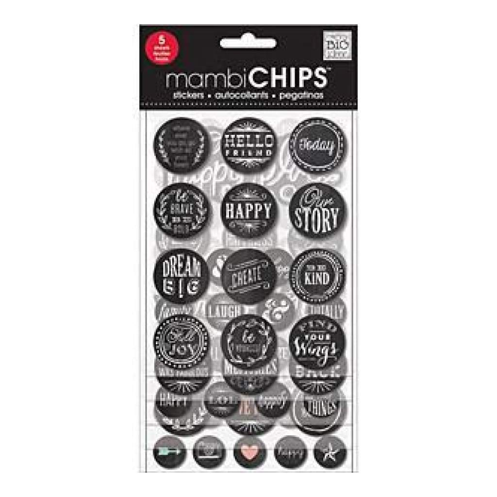 Me & My Big Ideas Chipboard Value Pack Chalk- Hello Friend