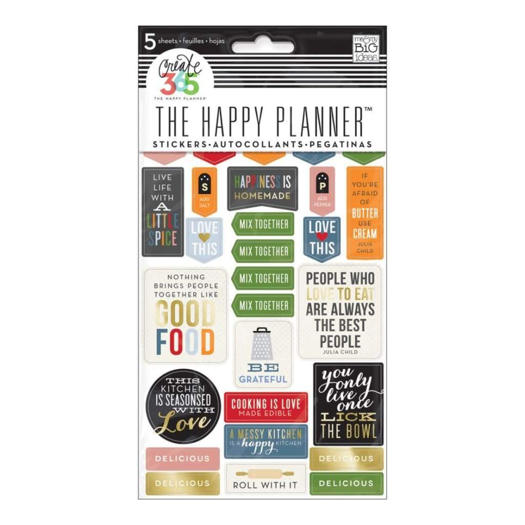 Me & My Big Ideas - Happy Planner Stickers 5/Sheets - Good Food