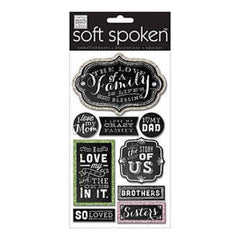 Me & My Big Ideas Soft Spoken Themed Embellishments Chalk - Love Of A Family