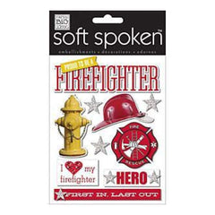 Me & My Big Ideas Soft Spoken Themed Embellishments Proud To Be A Firefighter (J17)