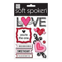 Me & My Big Ideas Soft Spoken Themed Embellishments Sketchy Love (J17)