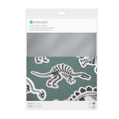 Silhouette Sticker Paper 8 1/2 in x 11 in - Brushed Metallic Silver